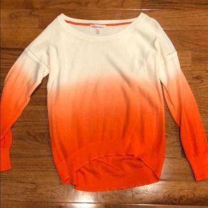 Victorias Secret Orange/White Sweater